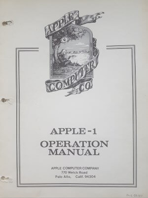 Apple-1 OP Manual